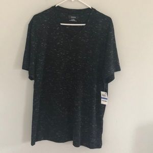NWT Alfani Men Shirt Black with White XL